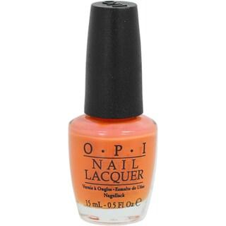 OPI In My Back Pocket Orange Nail Lacquer