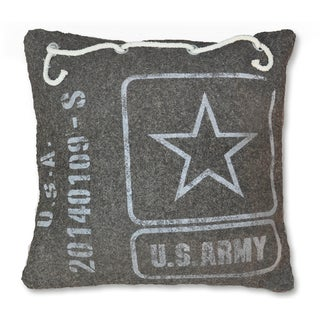Cottage Home Recycled Canvas Army Pillow