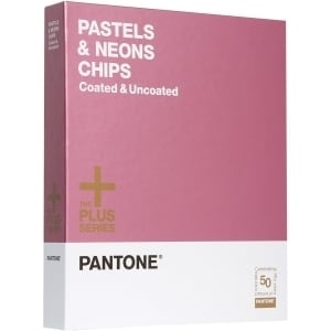 Pantone PASTELS & NEONS CHIPS Coated & Uncoated Reference Printed Man