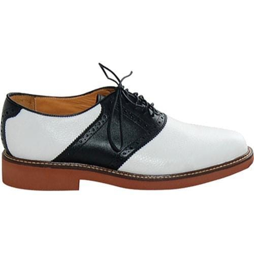 Men's David Spencer Saddle White Floater/Black Smooth Leather