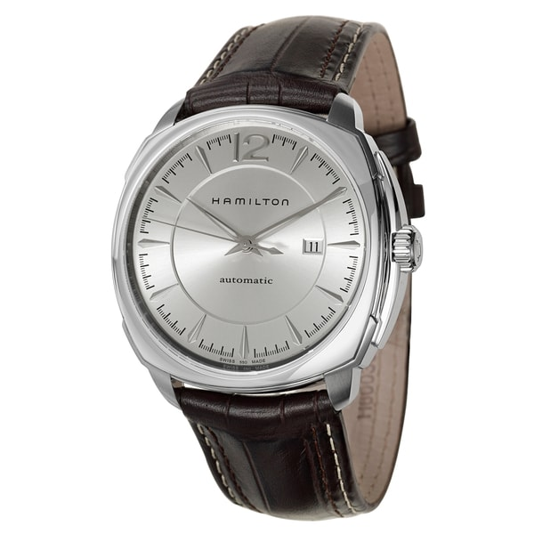 Hamilton Men's 'Jazzmaster' Silver Dial Swiss Automatic Watch