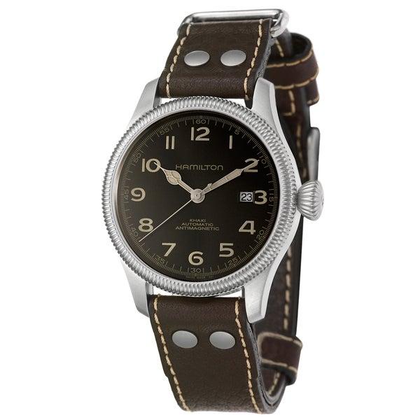 Hamilton Men's 'Khaki Field' Water-Resistant Stainless Steel Swiss Automatic Watch