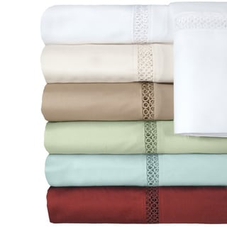 Grand Luxe Payton Egyptian Cotton Sateen Deep Pocket 500 Thread Count Sheet Set