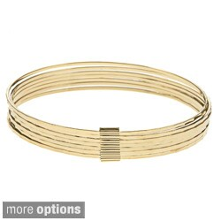 Sterling Essentials Silver 7-inch Mirrored Diamond-cut Bangle Bracelet