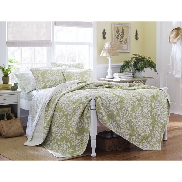 Shop Laura Ashley Rowland Sage 3-piece Quilt Set