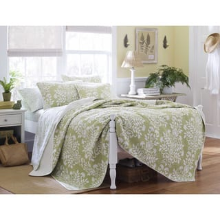 Laura Ashley Rowland Sage 3-piece Quilt Set|https://ak1.ostkcdn.com/images/products/7753061/P15150876.jpg?impolicy=medium