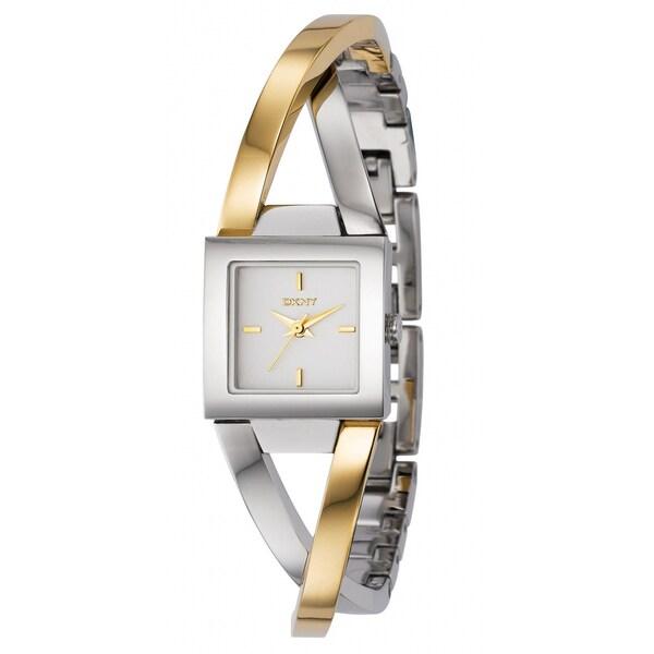 DKNY Women's Two-tone Stainless Steel White Dial Quartz Watch