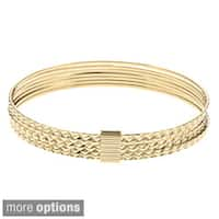 Sterling Essentials Silver 7-inch Diamond-cut Bangle Bracelet