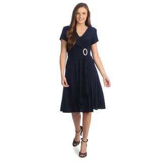 Black aline dress with sleeves
