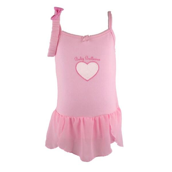 Bone Bebe Girl's Pink Sleeveless Ballerina Bodysuit Dress