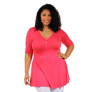 24/7 Comfort Apparel Women's Plus Tunic Top