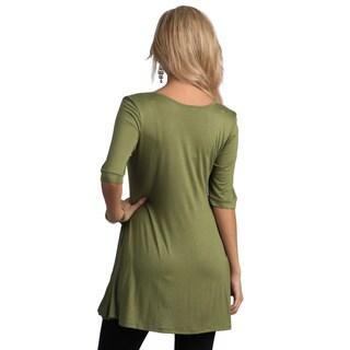 24/7 Comfort Apparel Women's Half-sleeve Tunic Top
