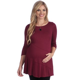 24/7 Comfort Apparel Women's Solid Maternity Tunic