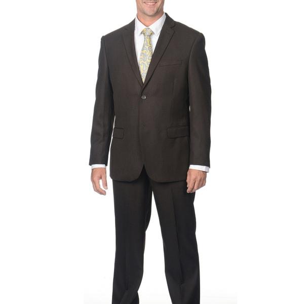Caravelli Men's 2-button Shark Pattern Suit