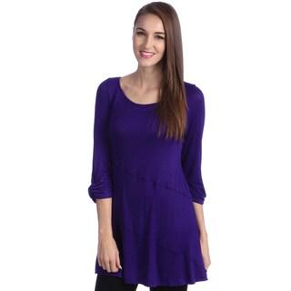 24/7 Comfort Apparel Women's Elbow Sleeve Tunic Top