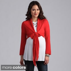 24/7 Comfort Apparel Women's Maternity Tie-front Shrug