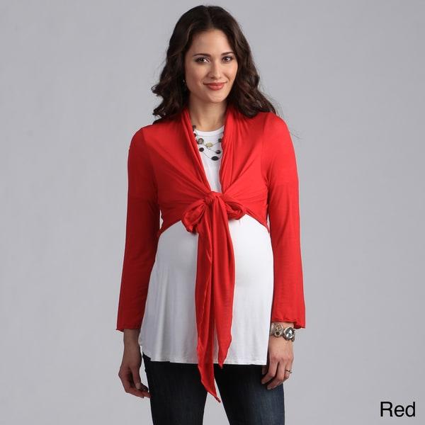 Shop 24 7 Comfort Apparel Women S Maternity Tie Front