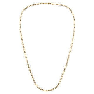 Sterling Essentials 14k Two-tone Gold Italian Pave Marina Chain