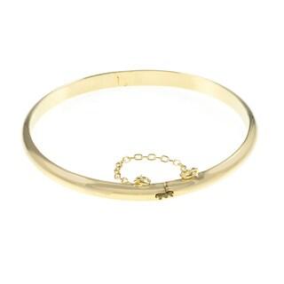 Link to Sterling Silver 7-inch Polished Bangle Bracelet Similar Items in Bracelets