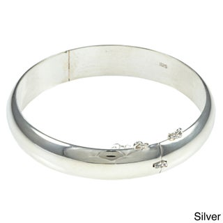 Sterling Essentials Silver 7-inch Polished Bangle Bracelet (3 options available)