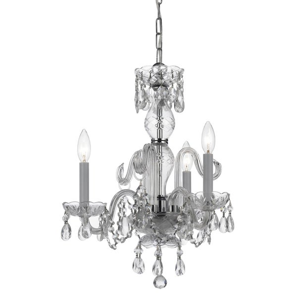 Crystorama Imperial Collection 3-light Chrome/ Crystal Chandelier
