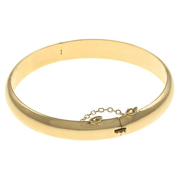 Sterling Essentials Silver 7-inch Polished Bangle Bracelet. Opens flyout.