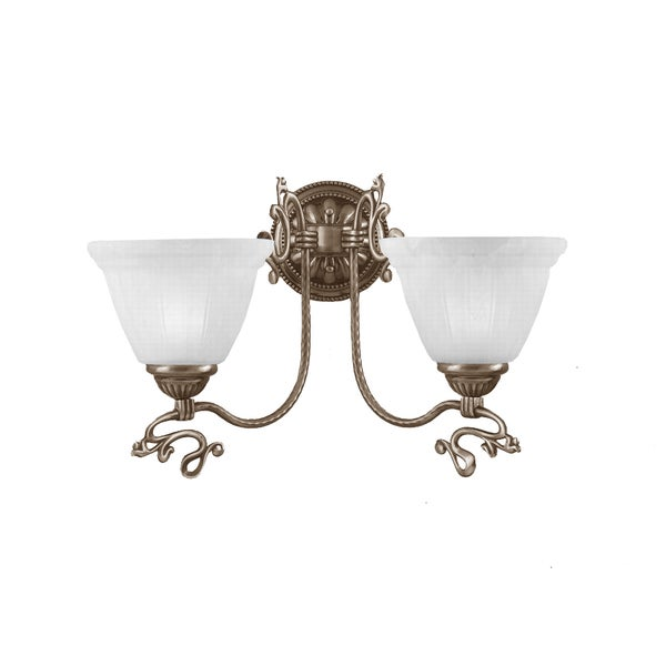 Charleston Antique Brass 2-Light Wall Sconce