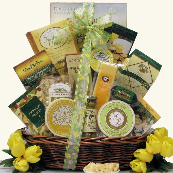 Large Tempting Easter Cheese Delights Gift Basket