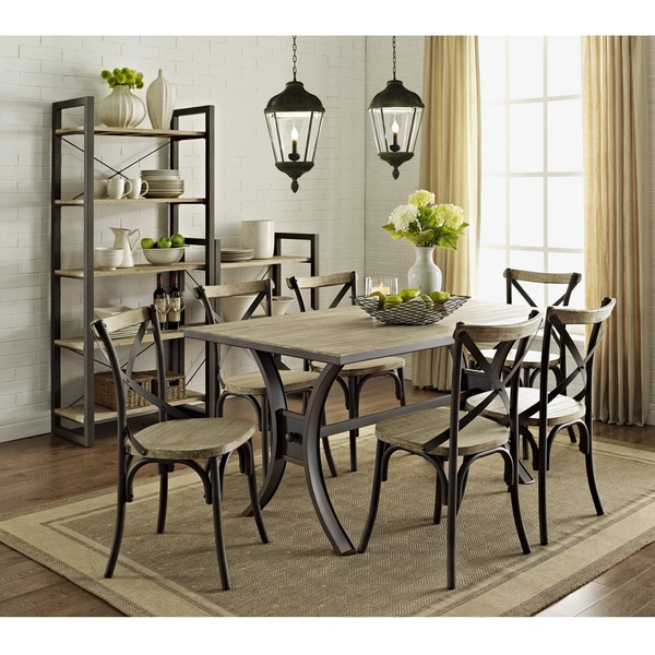 Urban Reclamation Solid Wood 7-piece Dining Set