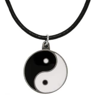 Pewter Yin Yang Leather Cord Necklace|https://ak1.ostkcdn.com/images/products/7753361/7753361/CGC-Pewter-Yin-Yang-Leather-Cord-Necklace-P15151079.jpg?impolicy=medium