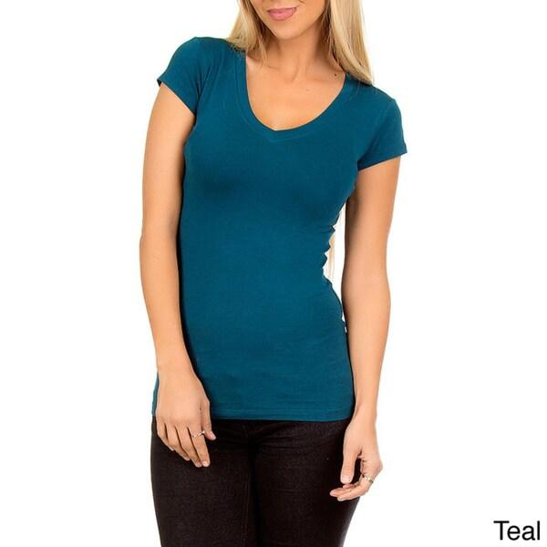 Stanzino Women's V-neck Basic T-shirt