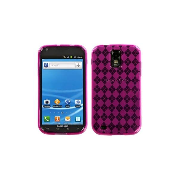 MYBAT Hot Pink Argyle Candy Skin Case for Samsung Galaxy S II T989