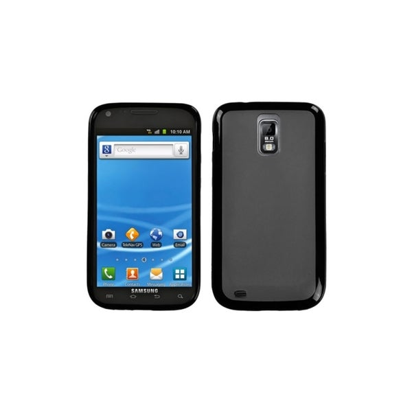 INSTEN Smoke/ Black Gummy Case Cover for Samsung Galaxy S II T989