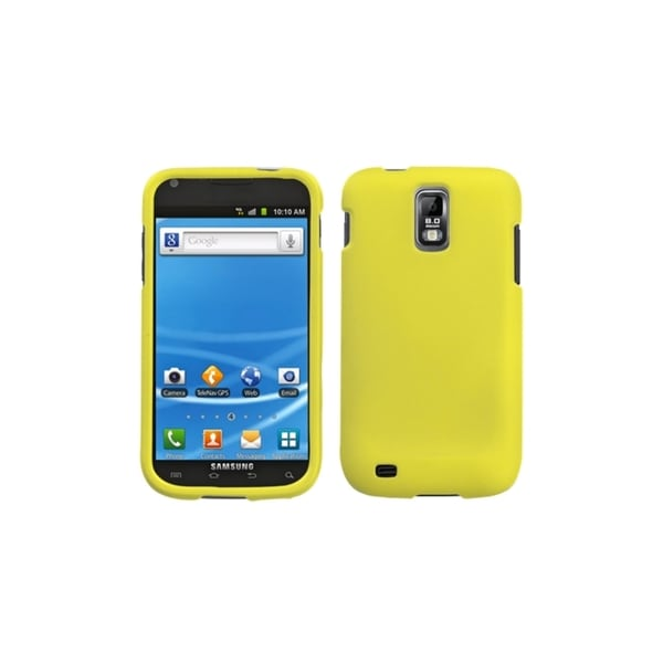 INSTEN Yellow Rubberized Case Cover for Samsung Galaxy S II T989