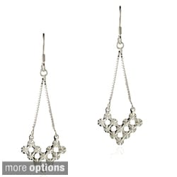 Mondevio Sterling Silver V-shape Cut-out Chandelier Dangle Earrings