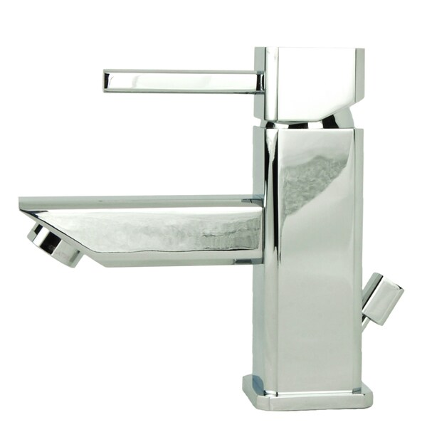 Italia Torre Quadrata Chrome Single-Post Bathroom Sink Faucet