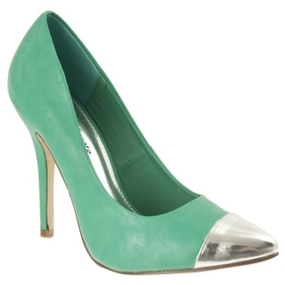 13e76310d2a Riverberry Women s  Ricola  Green Pointed Toe Stiletto Pump.