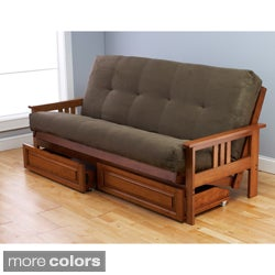 Somette Beli Mont Multi-Flex Honey Oak Futon Set
