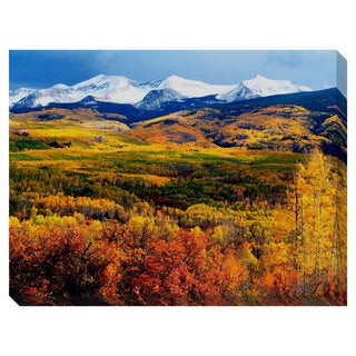Gallery Direct Fall Mountains Oversized Gallery Wrapped Canvas