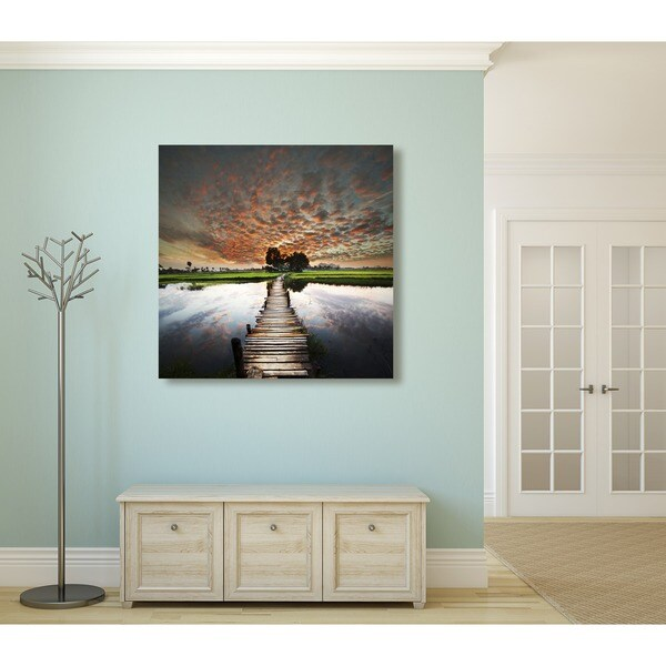 Gallery Direct Tropical River Oversized Gallery Wrapped Canvas