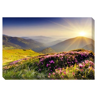 Gallery Direct Morning Mountain Sunrise Oversized Gallery Wrapped Canvas