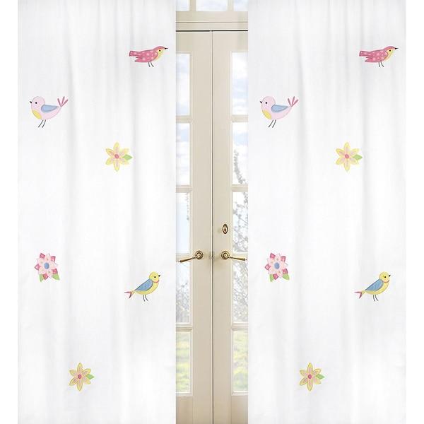 Sweet Jojo Designs Song Bird 84 Inch Curtain Panels Set