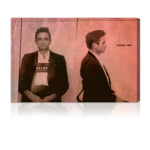 Oliver Gal Artist Co. 'Johnny Cash Mugshot' Canvas Print