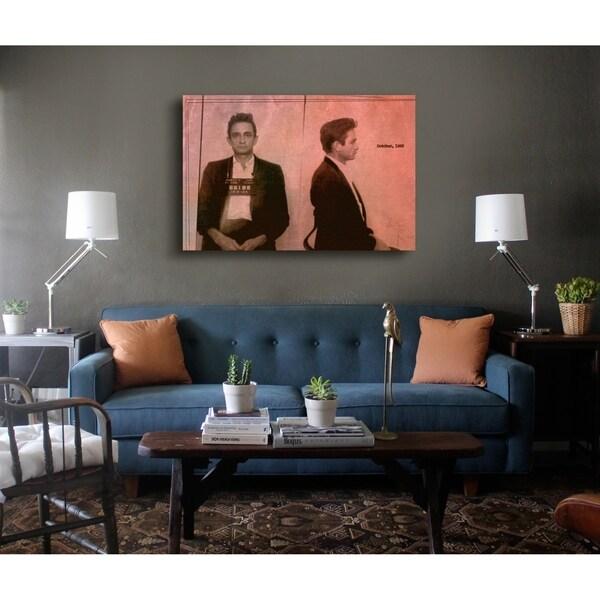 Shop Oliver Gal \'Johnny Cash Mugshot\' Music Wall Art Print on ...
