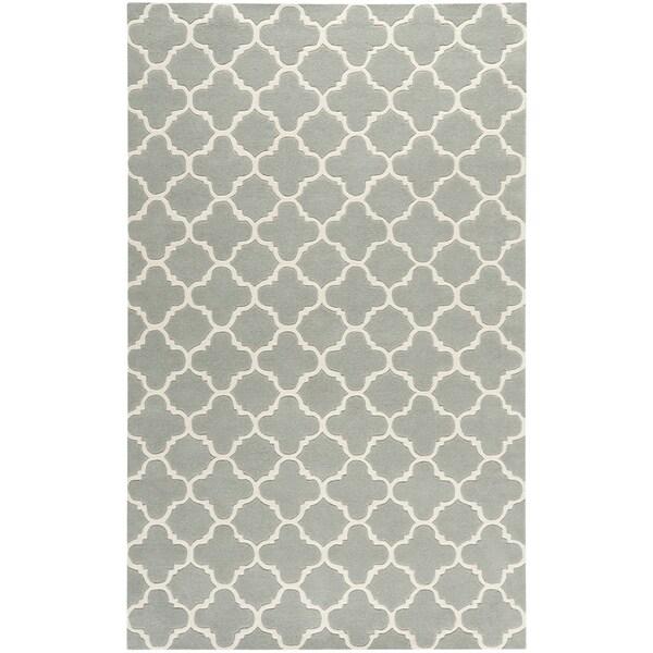 Safavieh Handmade Thick-Pile Moroccan Grey Wool Rug - 8'9' x 12'