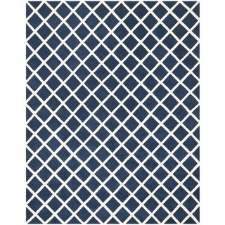 Safavieh Handmade Moroccan Chatham Dark Blue Wool Rug (9' x 12')