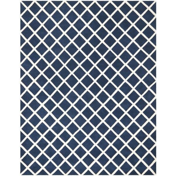 Safavieh Handmade Moroccan Chatham Dark Blue Wool Rug - 9' x 12'