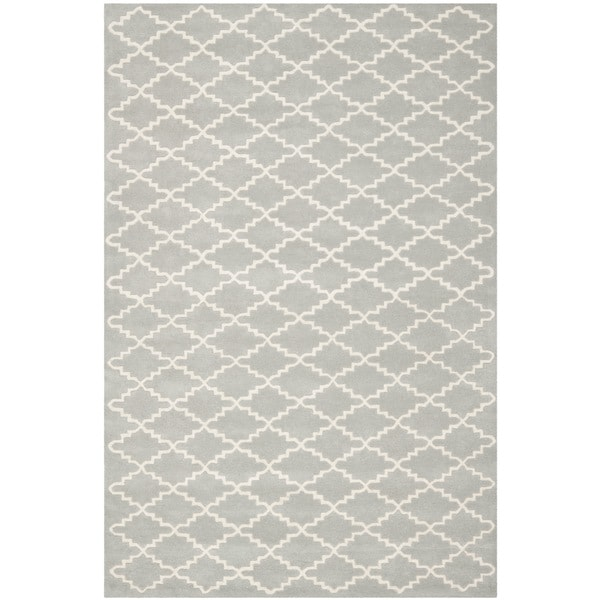 Safavieh Contemporary Handmade Moroccan Grey Wool Rug - 9' x 12'