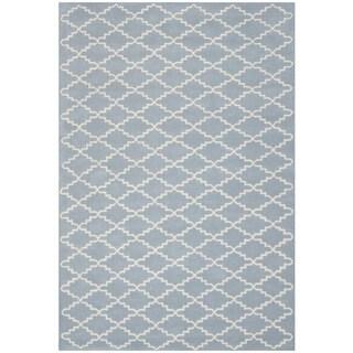 "Safavieh Handmade Moroccan Blue/Ivory Wool Rug (8'9"" x 12')"