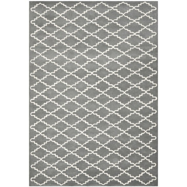 Safavieh Handmade Moroccan Dark Grey Wool Geometric Rug - 8'9 x 12'